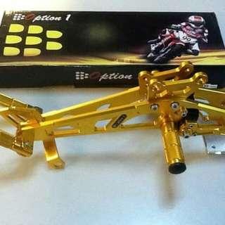 Option 1 Rearset for Sniper135 (Gold)