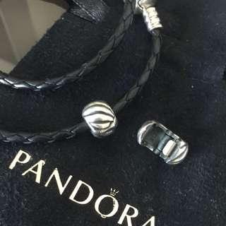 Pandora固定扣一對 90%new100%real