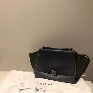 Celine Trapeze Tri colour Bag
