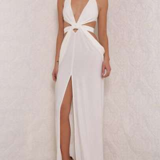 Abyss by Abby white formal dress