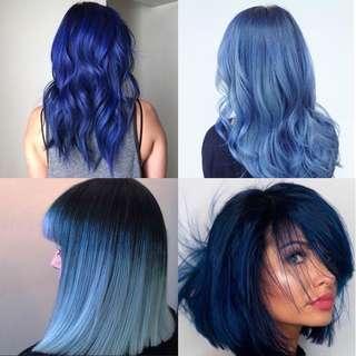 Readystock 0/88 Blue Korea Professional Hair Color Cream