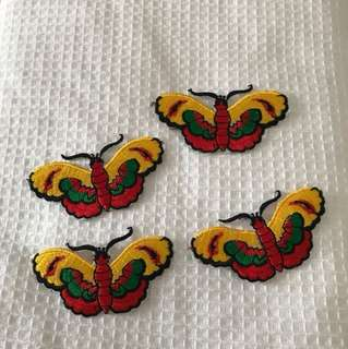 butterfly iron patch embroidery
