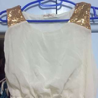 High low greecian blouse