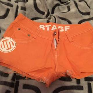 Orange Cute Short