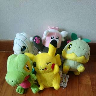 Authentic Pokemon Plushies from Japan's crane