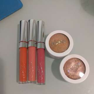 Colourpop lippie and highlighters
