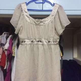 Off white beaded blouse