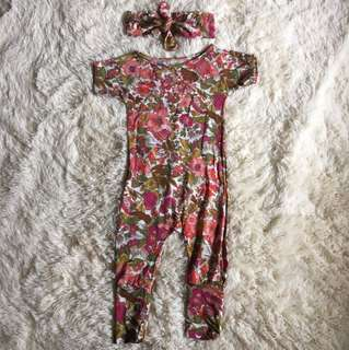 Homemade Romper & knot headband