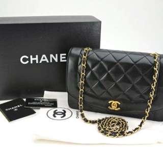 Chanel 大全套戴安娜貴妃包25cm 缺手靚仔貨
