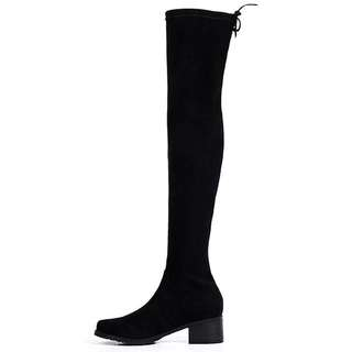 「新品推薦」歐美時尚百搭彈力布顯瘦過膝靴