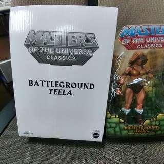 MASTER OF THE UNIVERSE CLASSICS : BATTLEGROUND TEELA (not Marvel Legends,DC, Heman)