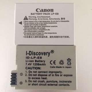 Canon battery LP-E8