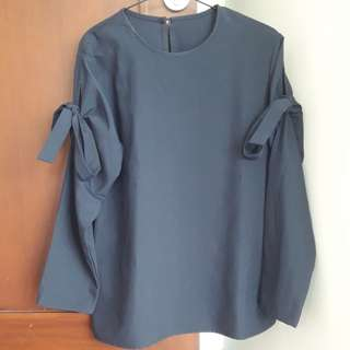 Nabo Official Navy Blue Ribbon Top