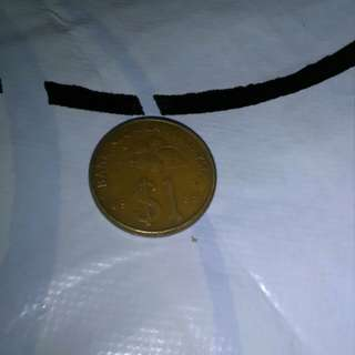 Syilling emas RM1 malaysia tahun 1989