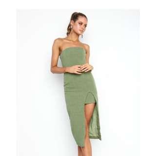 RENTING Petal & Pup green dress