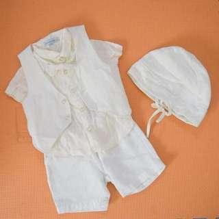 Periwinkle Jr. Infant Vestie Set