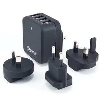 全新原裝行貨 XPOWER X4WT 6.8A 4-port智能旅行充電器 (黑色)