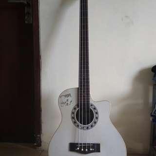 Jual bass akustik costum