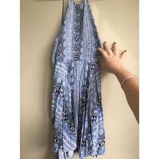 Factorie halter neck blue dress