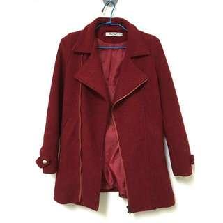 [降價]紅毛呢大衣外套 #雙十一