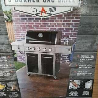 5 burner grill