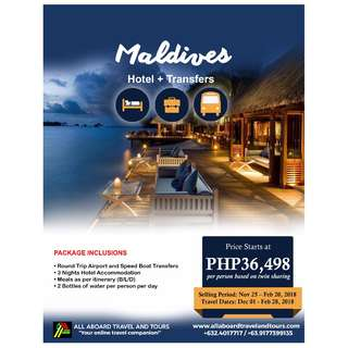 Maldives 4D3N Free and Easy Tour