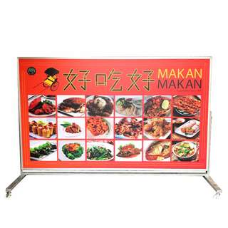 1 Sided Moveable Lightbox Signage on Wheels