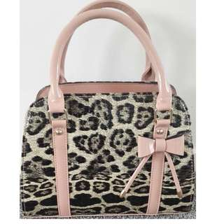 Stylish Pink leopard handbag