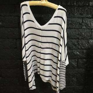 Cotton On Long Sleeve Striped Blouse