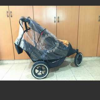 Phil&ted twin stroller