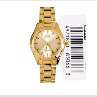 Authentic Casio Women's Gold Stainless Steel Strap Watch