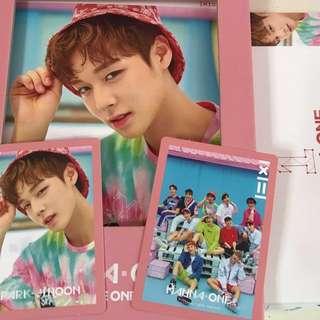 wanna one jihoon pink ver full set to be one album