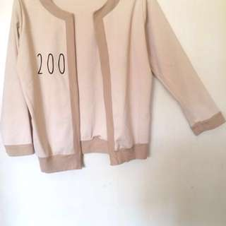 (A7) Office Jacket (Beige And Blue)