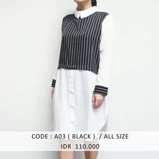 (SALE 50 ribu) BLACK SHIRTDRESS