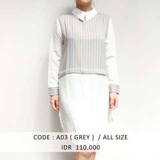 (SALE 50 ribu) GREY SHIRTDRESS MURAH