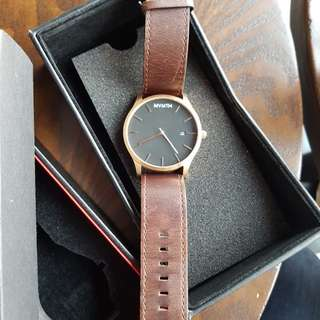 MVMT best seller! Rose Gold and Brown men's watch