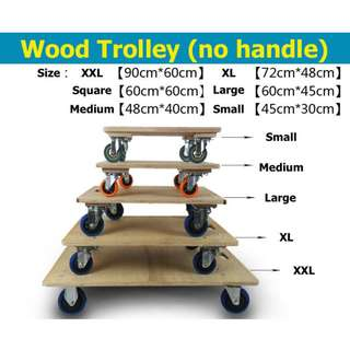 Wooden Trolley Flatbed Heavy Duty Flat
