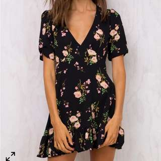 PRINCESS POLLY FLORAL DRESS