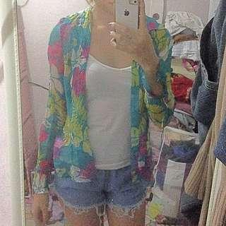 Floral Top / Cardigan / Blazer