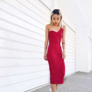 Missguided Red Bodycon Dress