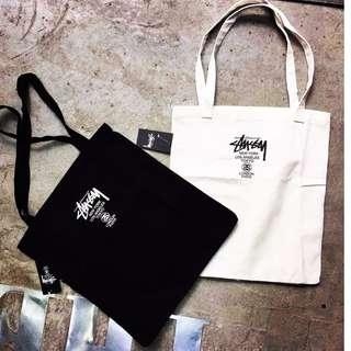 日本雜誌附錄 STUSSY 經典托特包 手提包 帆布包 書包 購物袋 潮流品牌 扁型方包