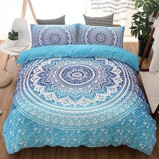 Preorder mandala bohemian duvet cover cotton queen/king size