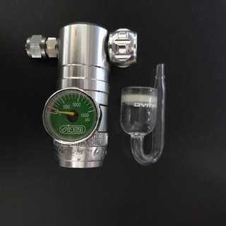 CO2 controller with bubble counter