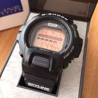 Auth Vintage 90's Casio G-Shock x Nissan Skyline Racing Team GTR DW6600B (never been worn, see description, 不議)