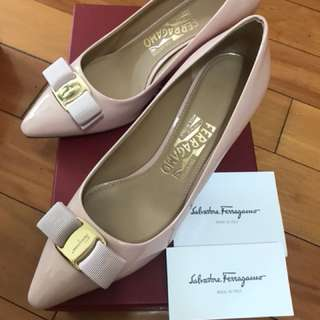 Salvatore Ferragamo Light Pink Heels 高踭鞋