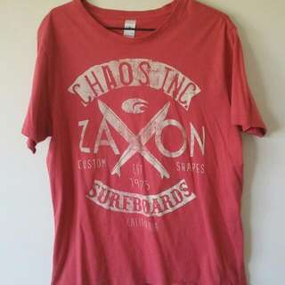 Men's Red Graphic / Printed Tshirt (Size Medium)
