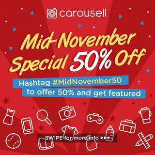 Mid November 50% Sale