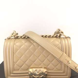 Chanel boy small gold