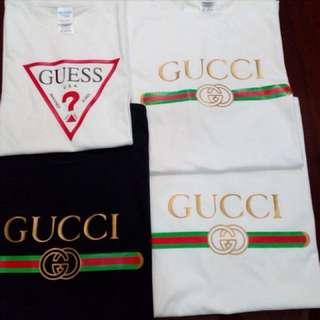 Gucci & Guess T-shirts