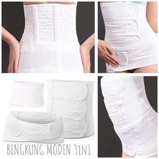 Bengkung Moden Cotton 3in1
